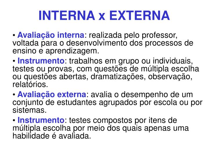 INTERNA x EXTERNA