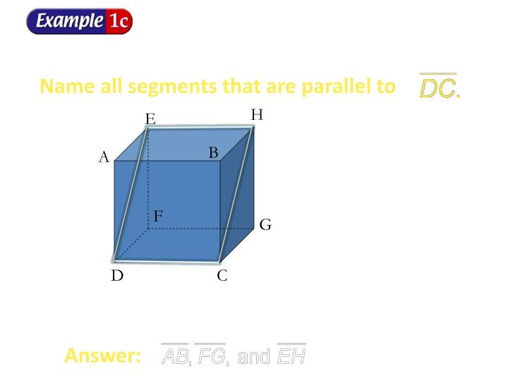 Name all segments that are parallel to