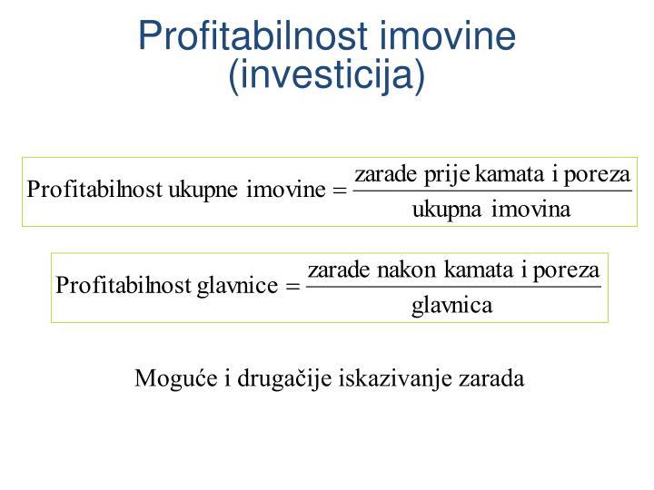 Profitabilnost imovine (investicija)