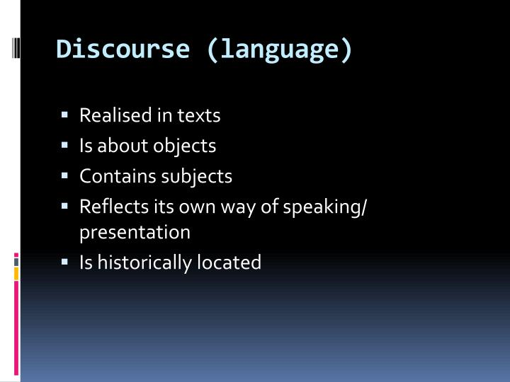 Discourse (language)