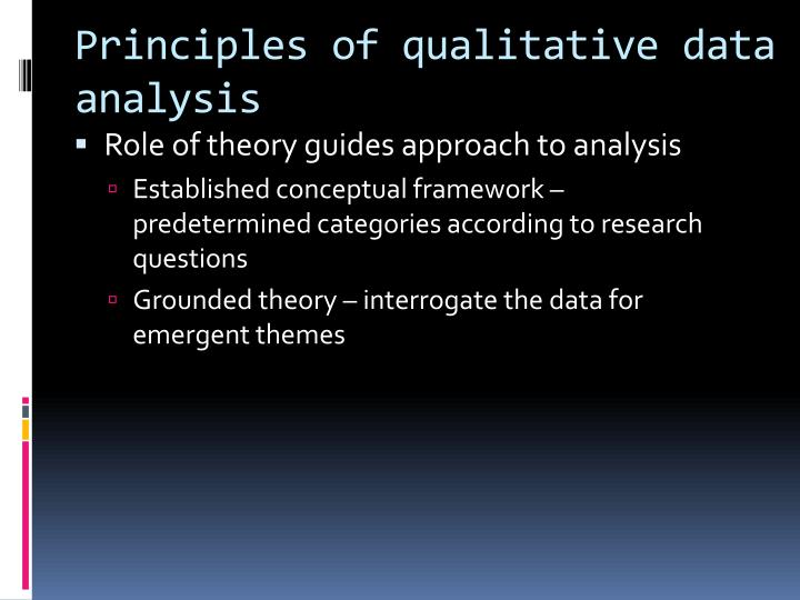 Principles of qualitative data analysis