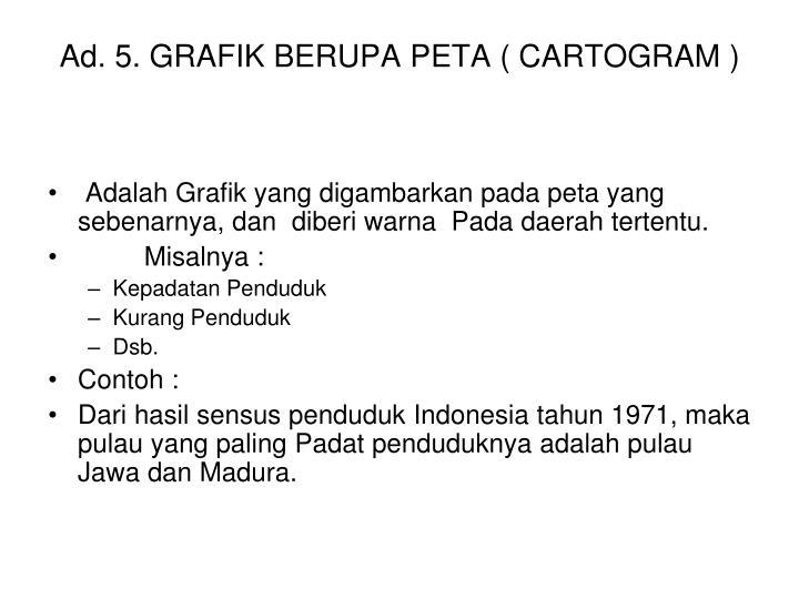 Ad. 5. GRAFIK BERUPA PETA ( CARTOGRAM )