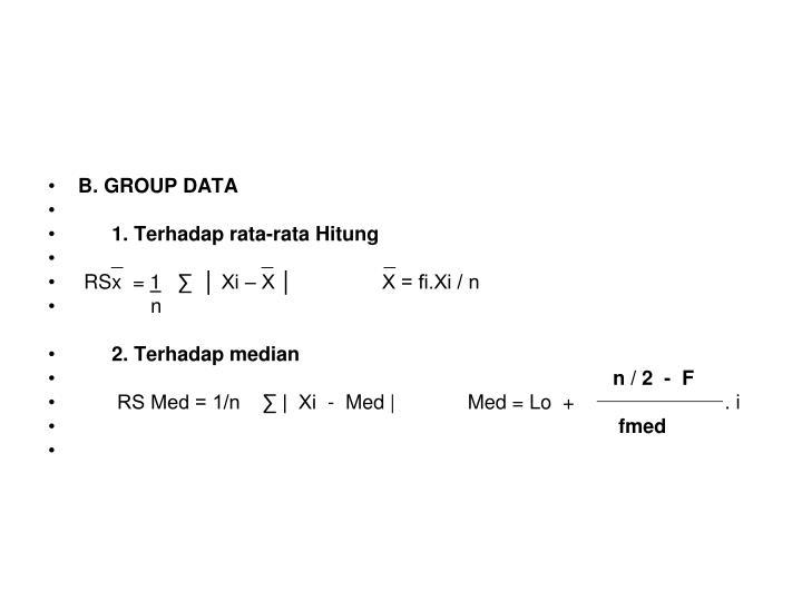 B. GROUP DATA