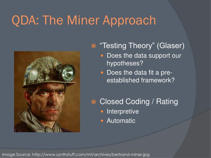 QDA: The Miner Approach