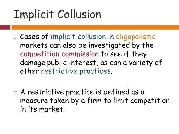 Implicit Collusion