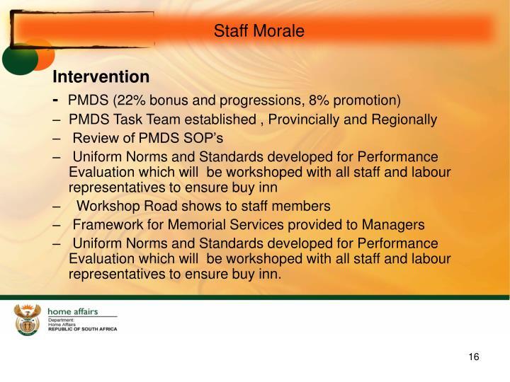 Staff Morale