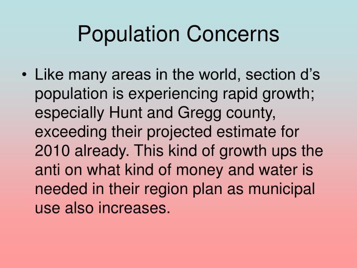 Population Concerns