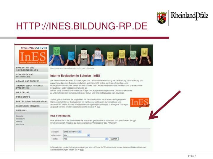 http://Ines.bildung-rp.de