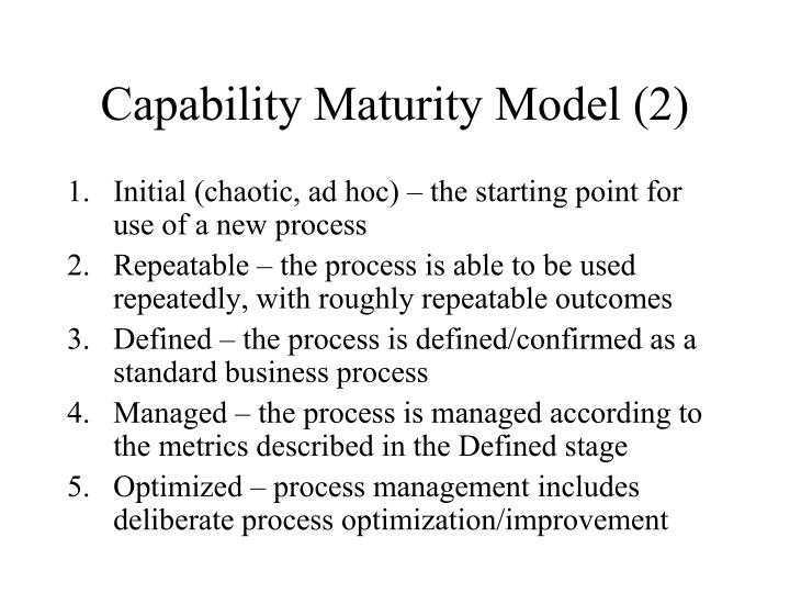 Capability Maturity Model (2)