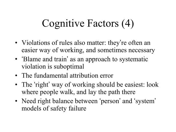 Cognitive Factors (4)