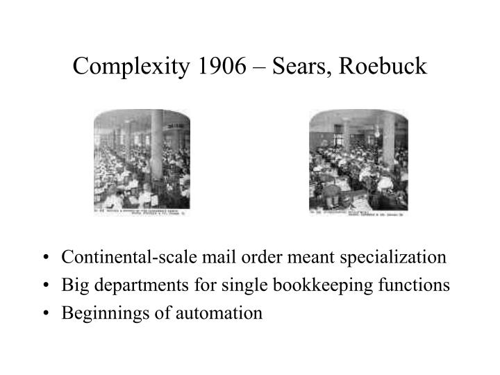 Complexity 1906 – Sears, Roebuck