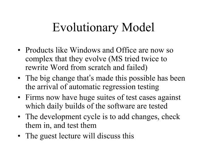 Evolutionary Model