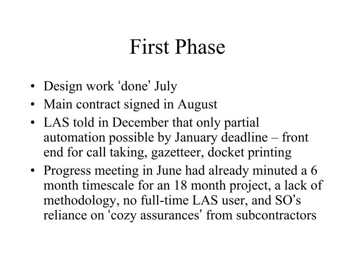 First Phase