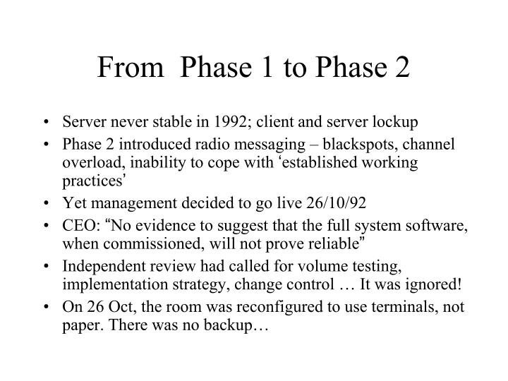 From  Phase 1 to Phase 2