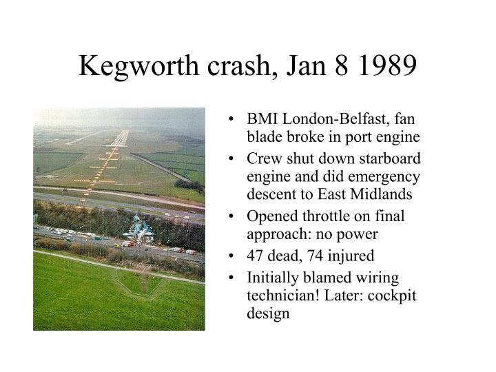 Kegworth crash, Jan 8 1989