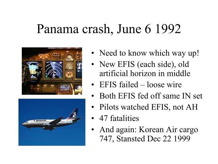 Panama crash, June 6 1992