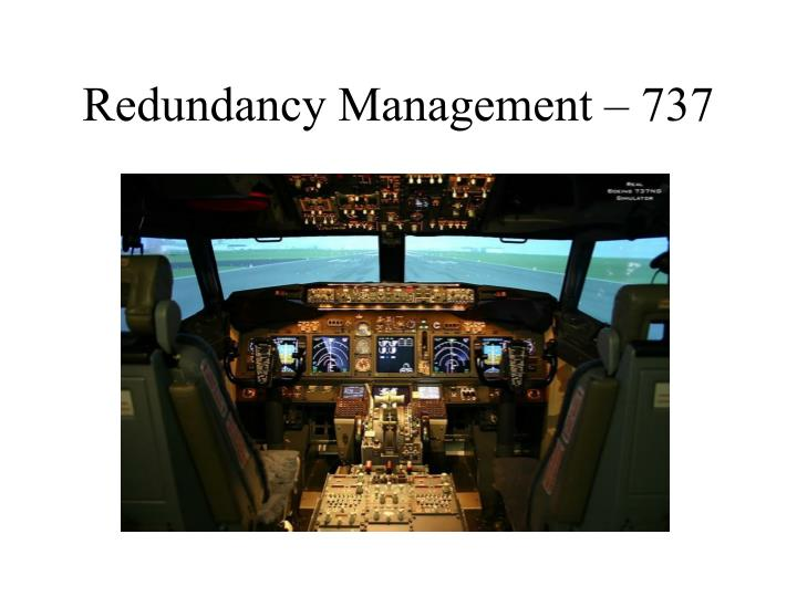 Redundancy Management – 737