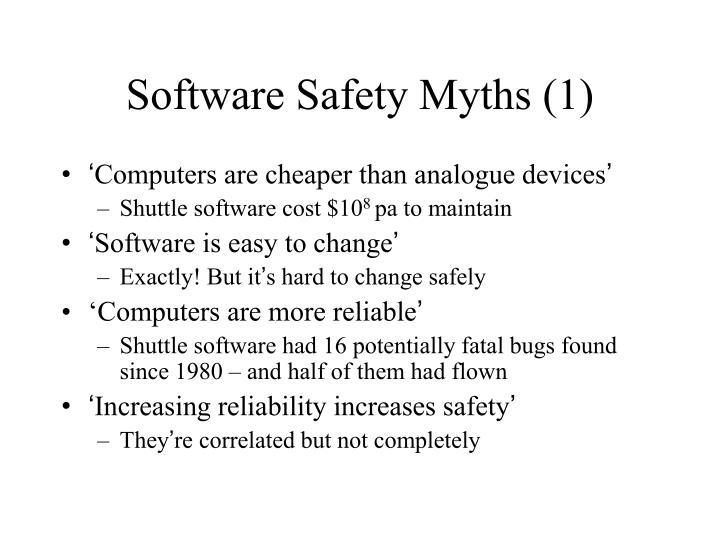 Software Safety Myths (1)