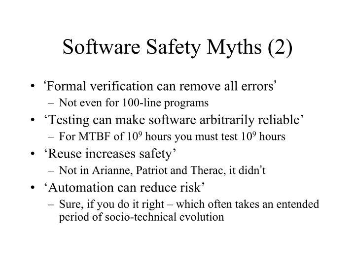 Software Safety Myths (2)