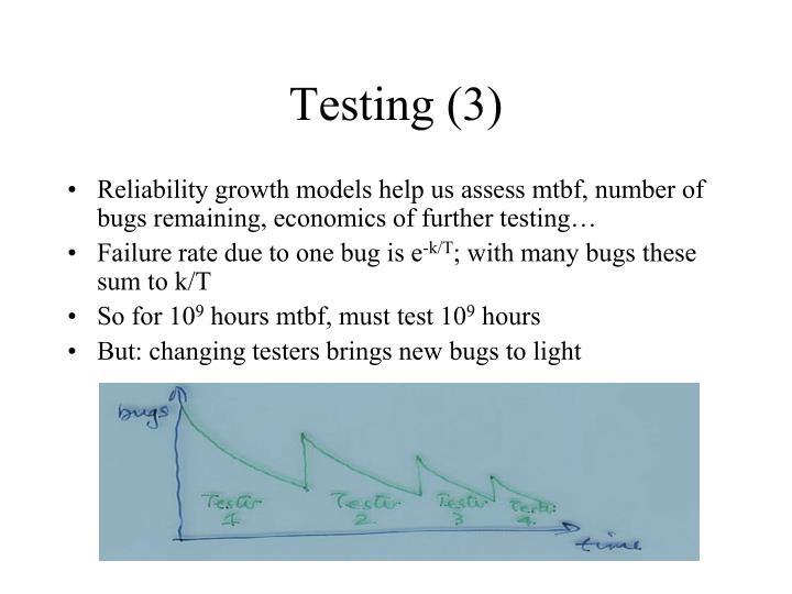 Testing (3)