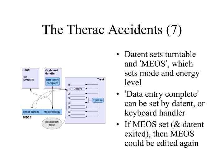 The Therac Accidents (7)