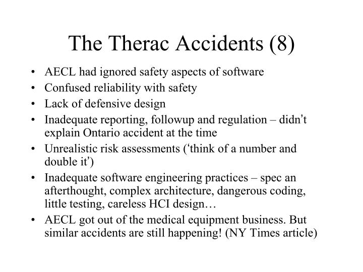 The Therac Accidents (8)