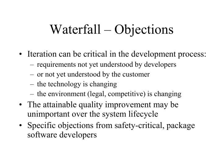 Waterfall – Objections