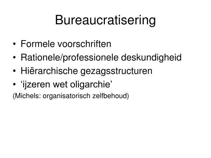 Bureaucratisering