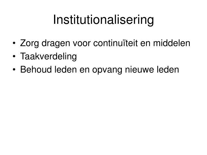 Institutionalisering
