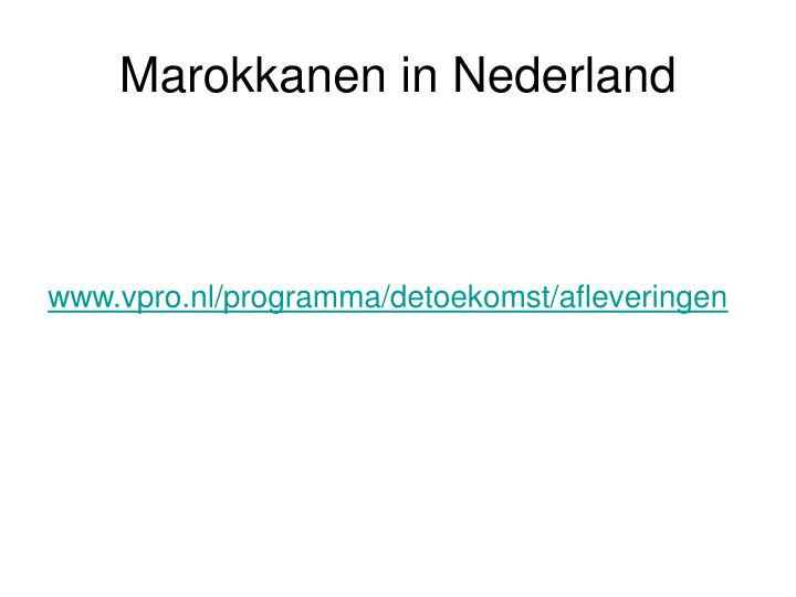 Marokkanen in Nederland
