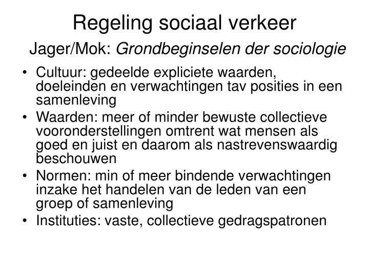 Regeling sociaal verkeer