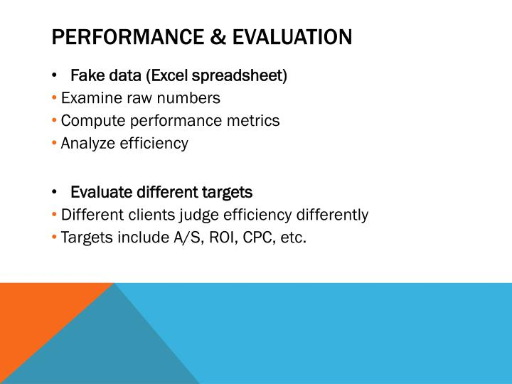 Performance & Evaluation