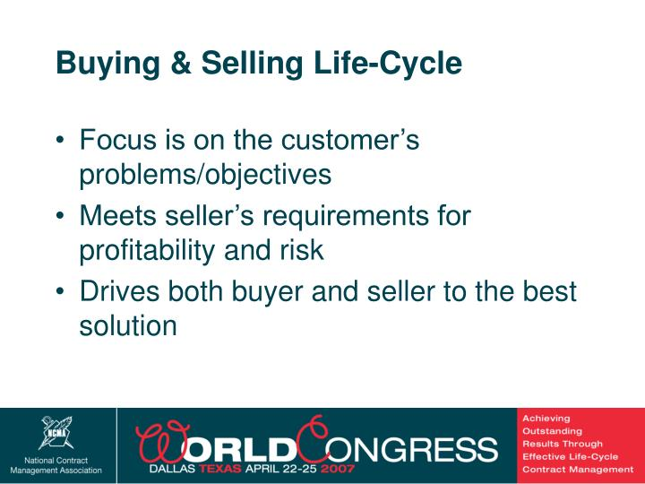 Buying & Selling Life-Cycle