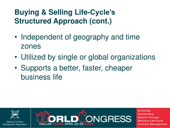 Buying & Selling Life-Cycle's