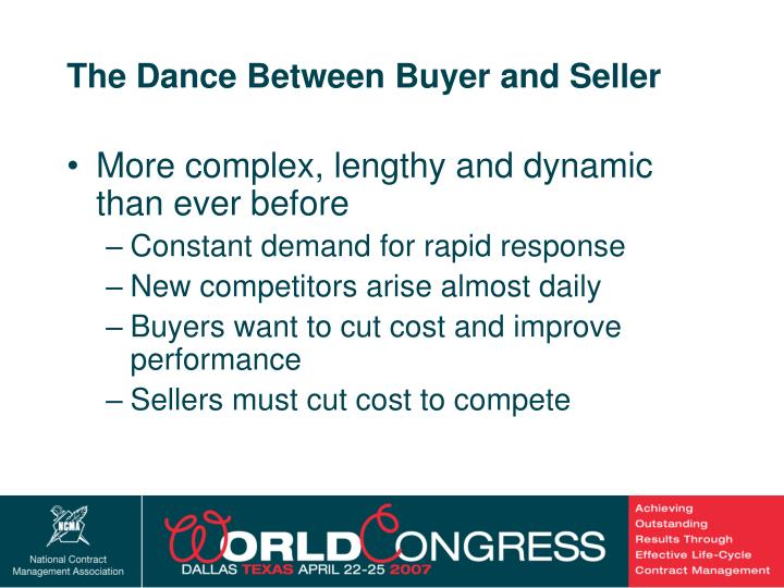The Dance Between Buyer and Seller