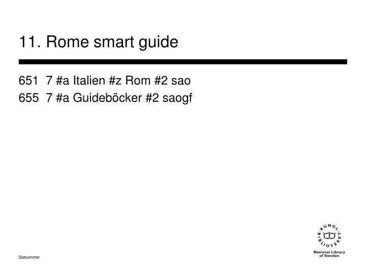 11. Rome smart guide