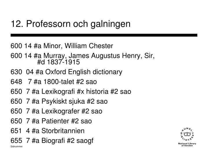 12. Professorn och galningen