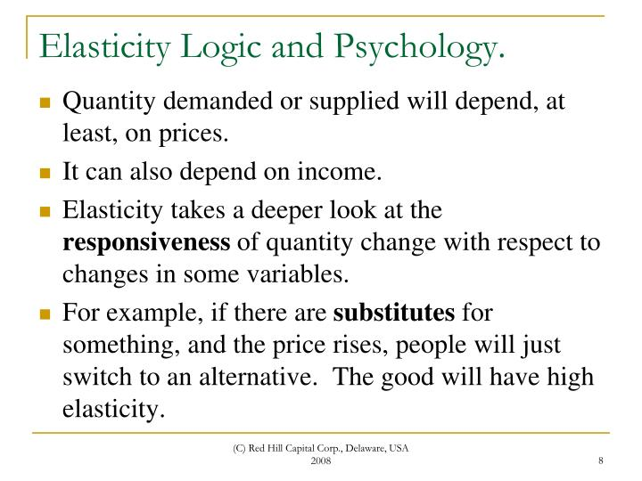 Elasticity Logic and Psychology.