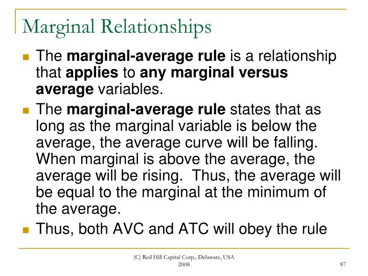 Marginal Relationships