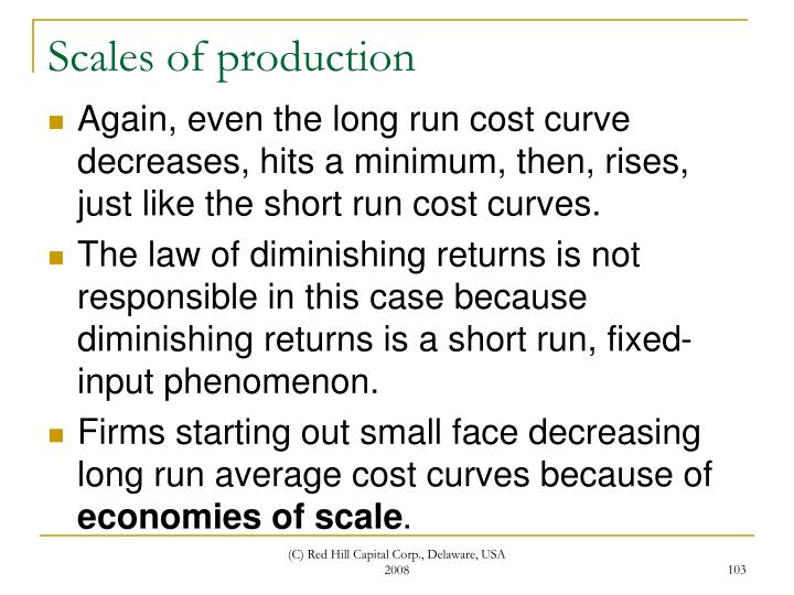 Scales of production