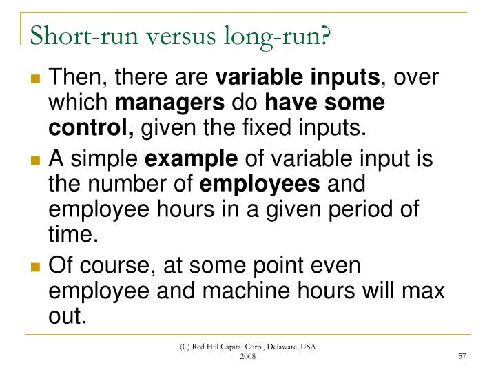 Short-run versus long-run?