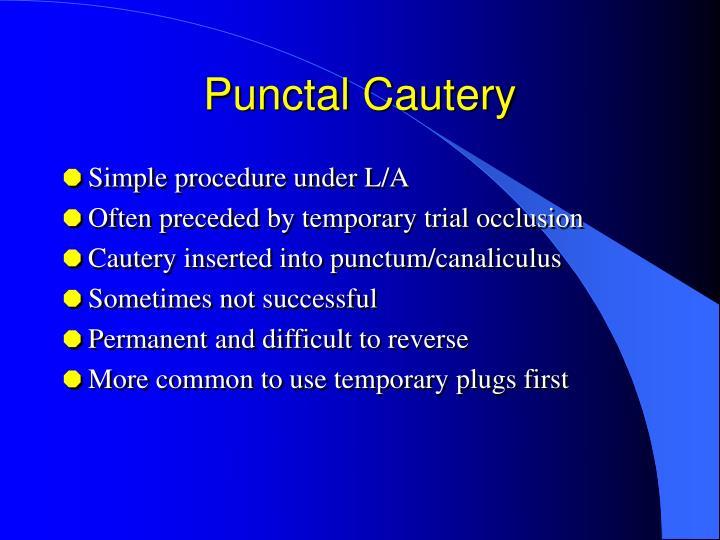 Punctal Cautery