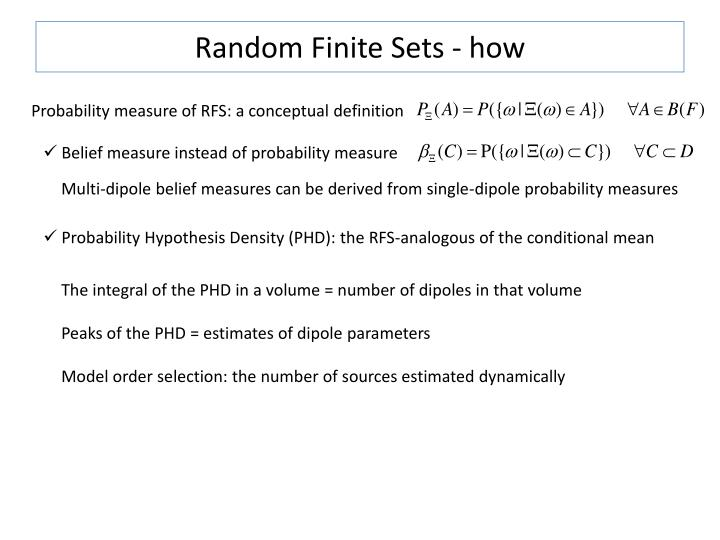 Random Finite Sets - how