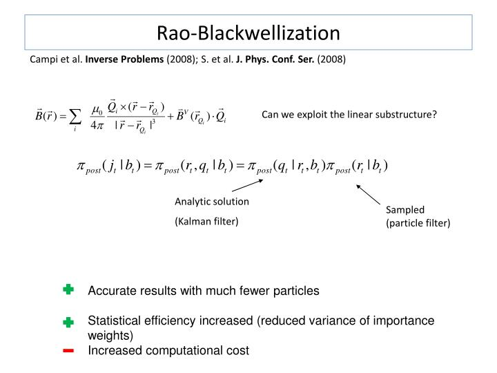 Rao-Blackwellization
