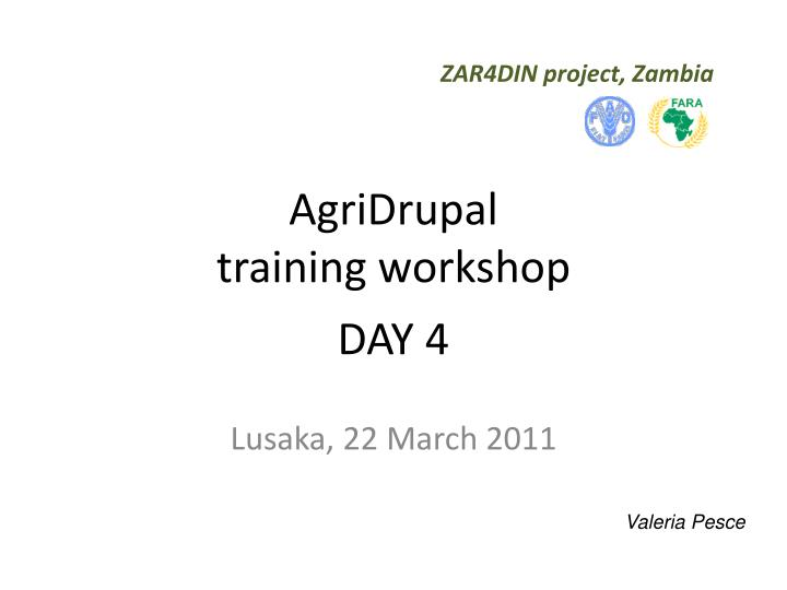 ZAR4DIN project, Zambia