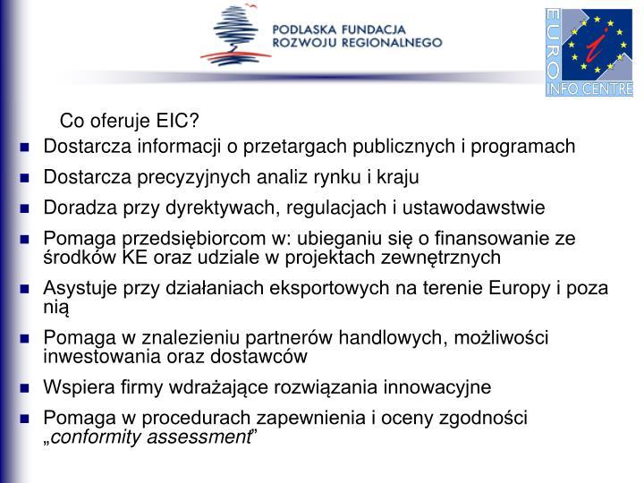 Co oferuje EIC?