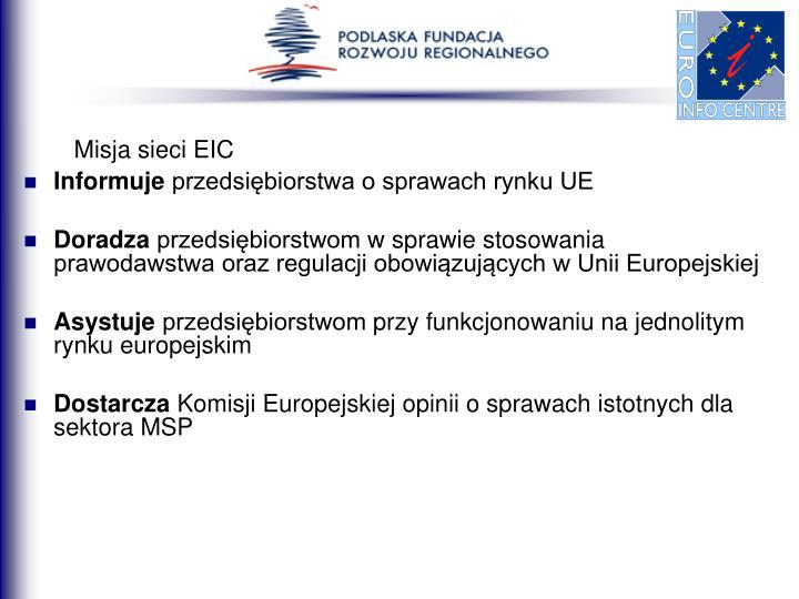 Misja sieci EIC
