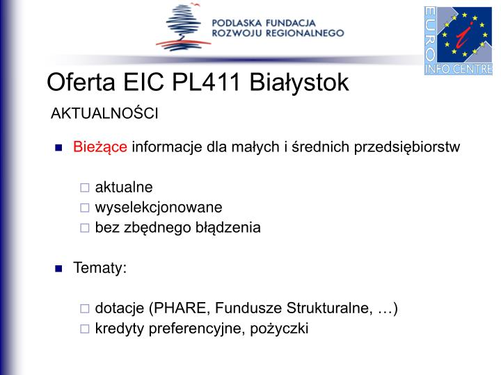 Oferta EIC PL411 Białystok