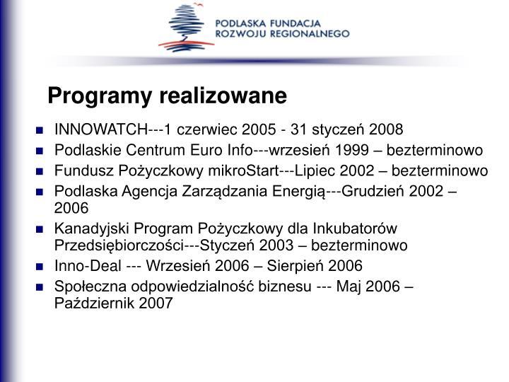 Programy realizowane