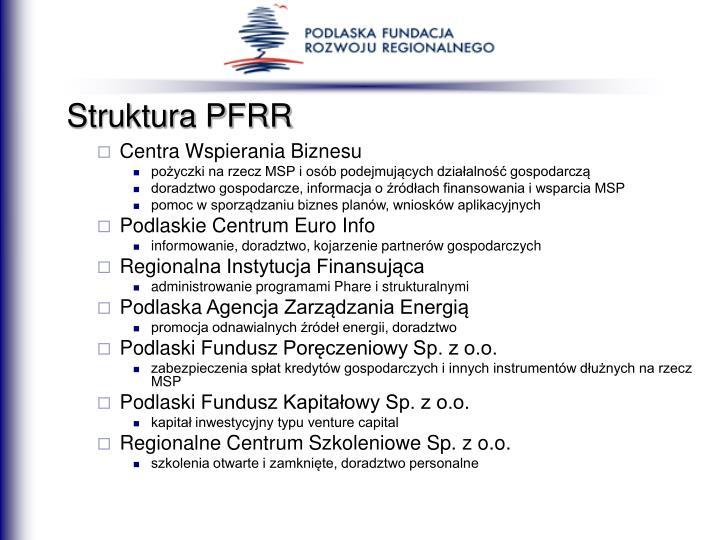Struktura PFRR